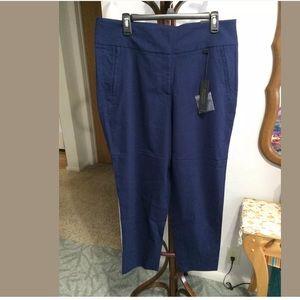 Lane Bryant blue ankle pants